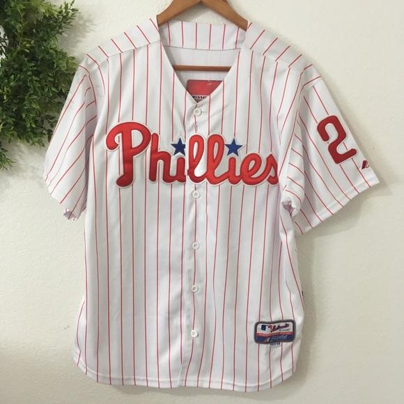 size 40 da987 d2596 NWT Phillies Cool Base Shirt - Utley NWT